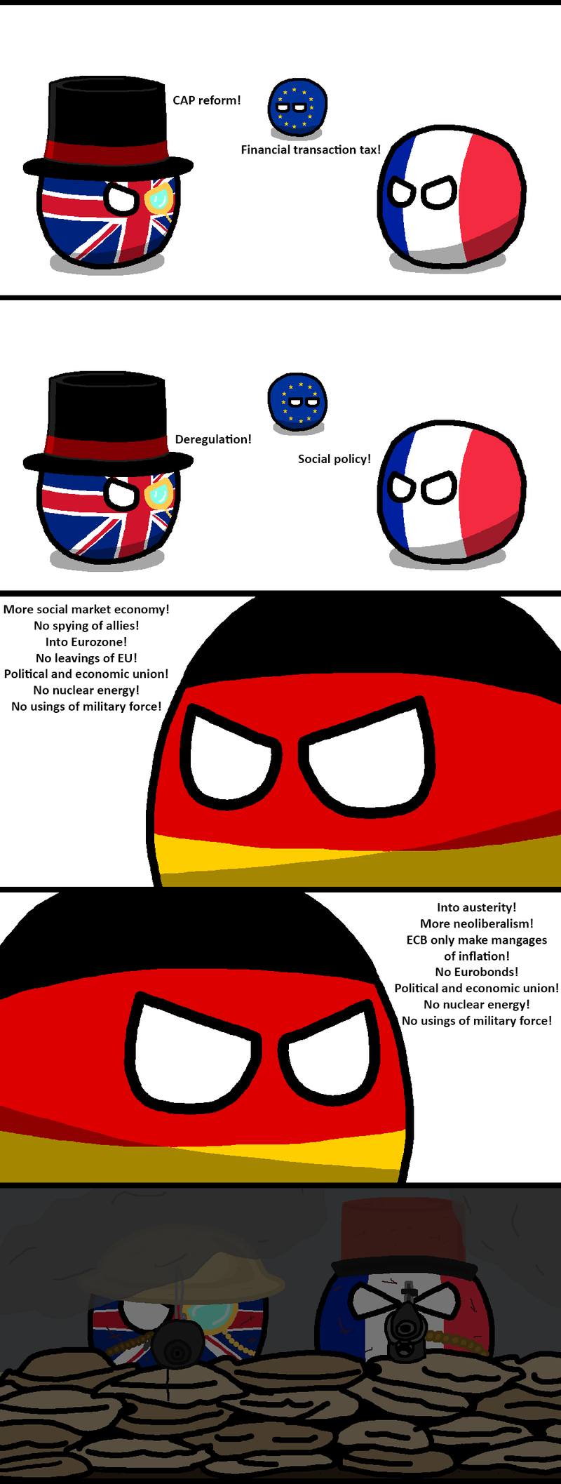 Illustration for article titled Daily Polandball: Nothing Brings you Closer Than a Mutual Enemy.