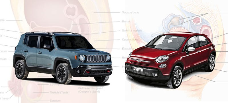 "Illustration for article titled The Fiat 500X And The Jeep Renegade Aren't ""Male And Female"" Versions"