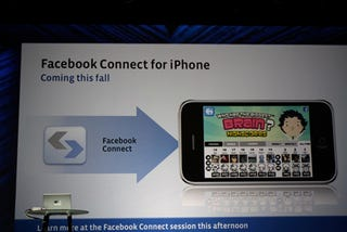Illustration for article titled Facebook Connect for iPhone Will Links Apps to Your Facebook Account