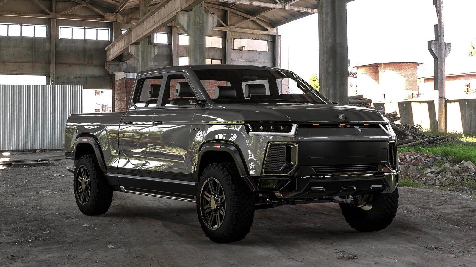 atlis xt electric pickup concept    miles  range  tow  pounds