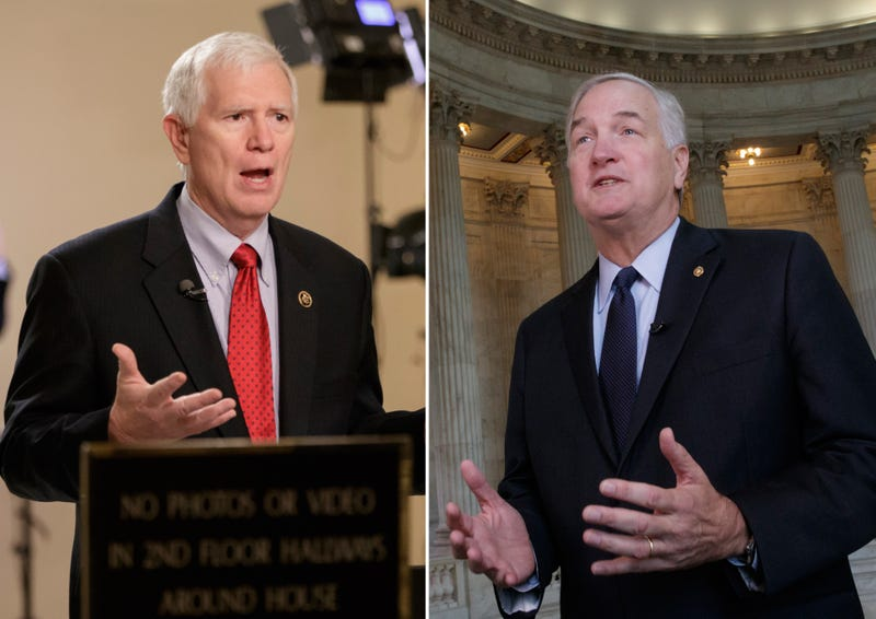 Rep. Mo Brooks; Sen. Luther Strange (J. Scott Applewhite/AP Images)