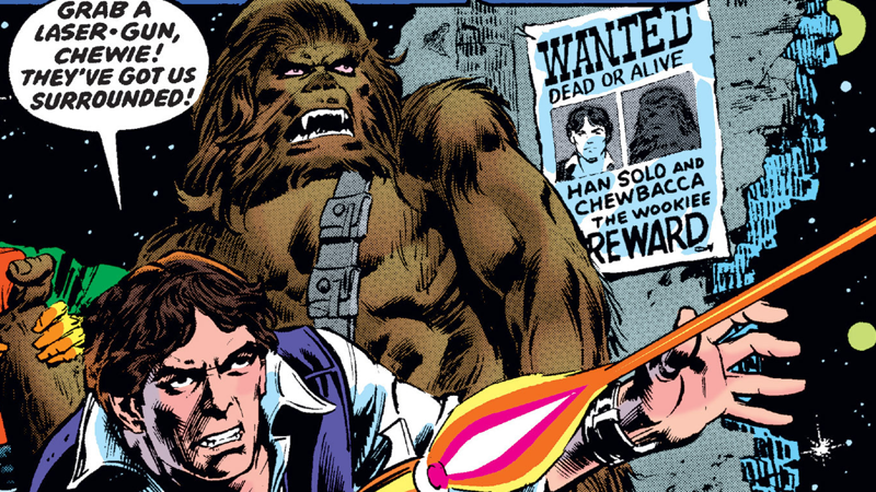 Grab those laser guns, it's time for a shootout on the cover of Star Wars #7.
