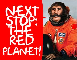 Illustration for article titled Russian Monkeys May Get to Mars First