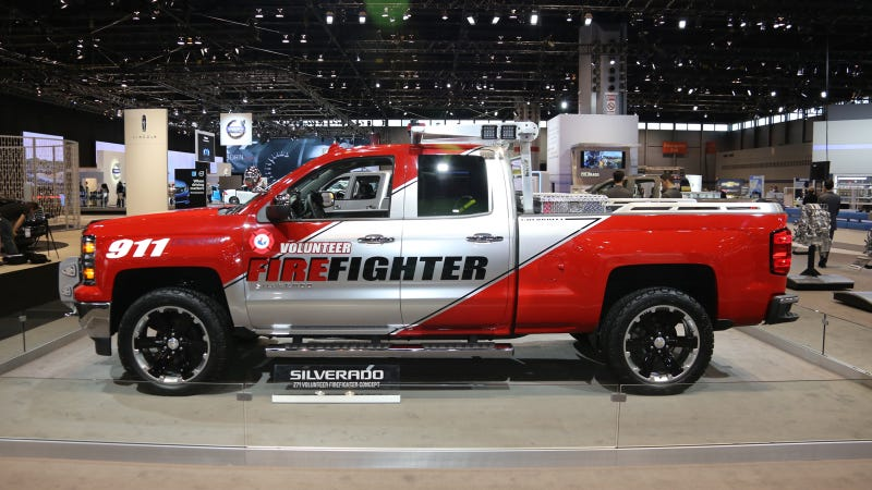 Illustration for article titled Chevy Should Go Ahead And Start Selling That Firefighter Silverado