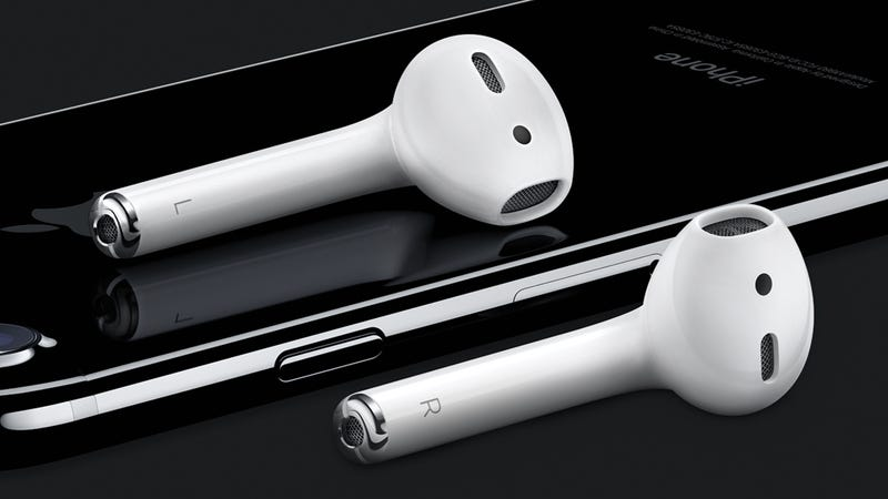 Illustration for article titled Apple's AirPods Are the Tiny Wireless Earbuds of the Future