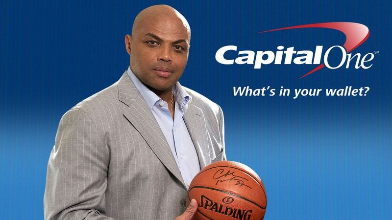 Illustration for article titled 'Capital One Is A Terrible Bank,' Says Charles Barkley In New Capital One Commercial