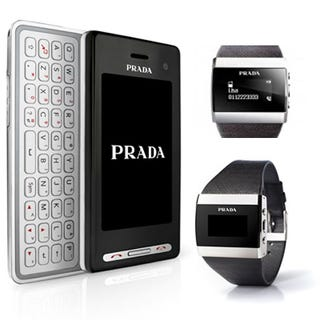 Illustration for article titled Prada II Phone Comes With a Swanky Little Bluetooth Watch