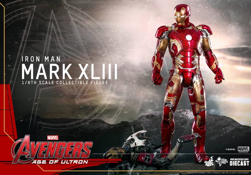 Illustration for article titled Hot Toys' Age Of Ultron Iron Man Is Totally Metal