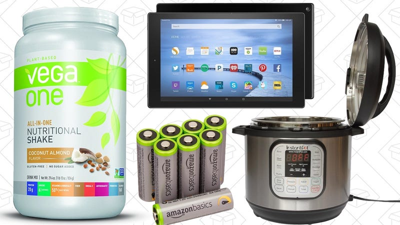 Illustration for article titled Today's Best Deals: Fire HD 10, Vega Protein, Instant Pot, and More