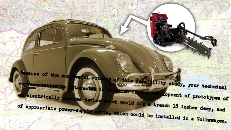 Illustration for article titled The CIA Built Special Trench-Digging Volkswagen Beetles To Spy On The Soviets