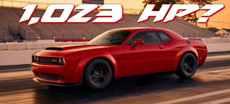 Crazy Rumors Say The 2018 Dodge Challenger Srt Demon Has Up To 1023 Horse
