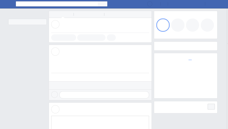 Screenshot: Facebook without the friends
