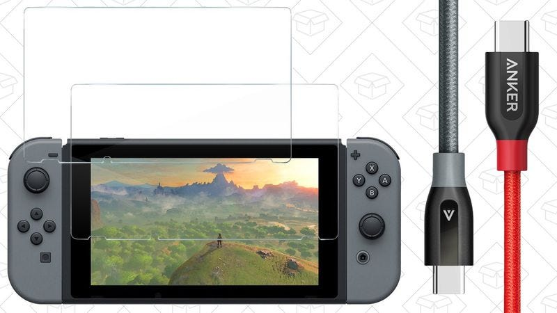 Illustration for article titled Today's best deals: Nintendo Switch accessories, $35 tablet, and more
