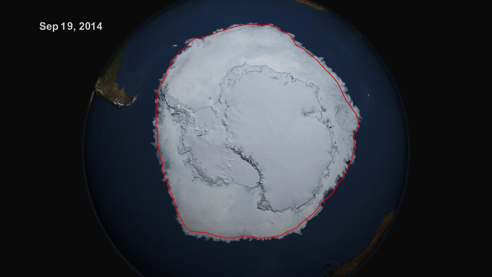 Hay más hielo que nunca en la Antártida, pero menos en el Polo Norte