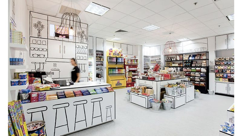 Amazing candy store looks like it was drawn by kids for Shopping for room decor