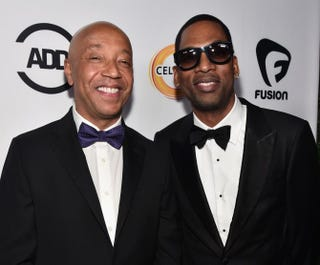 Producer Russell Simmons and actor Tony Rock attend the ALL Def Movie Awards at Lure Nightclub on February 24, 2016 in Hollywood, California.Alberto E. Rodriguez/Getty Images