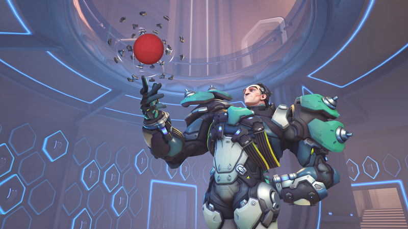 Illustration for article titled New Overwatch Custom Mode Turns Sigma Into A Dodgeball Player