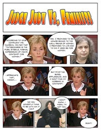 Illustration for article titled Comic Confrontations: Judge Judy Vs. Feminists