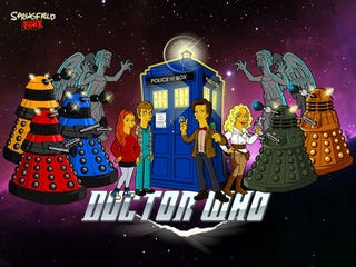 Illustration for article titled The new Doctor Who era gets a Simpsons twist