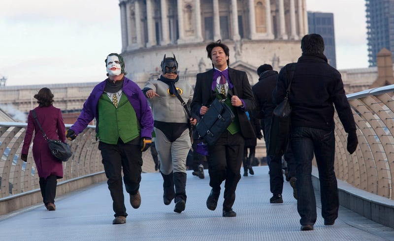 Illustration for article titled Real Life Gotham City Impostors Looks More Entertaining Than the Game