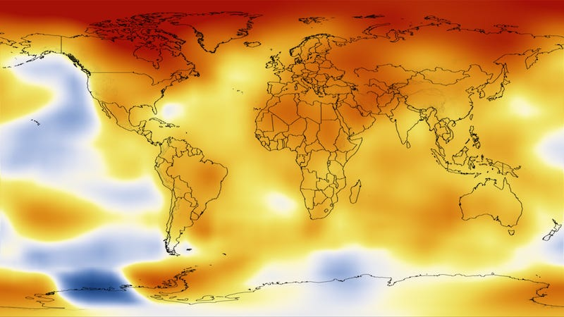 Temperature map / NASA
