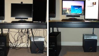 Illustration for article titled DIY Binder Clip Cable Management is Insanely Cheap, Customizable