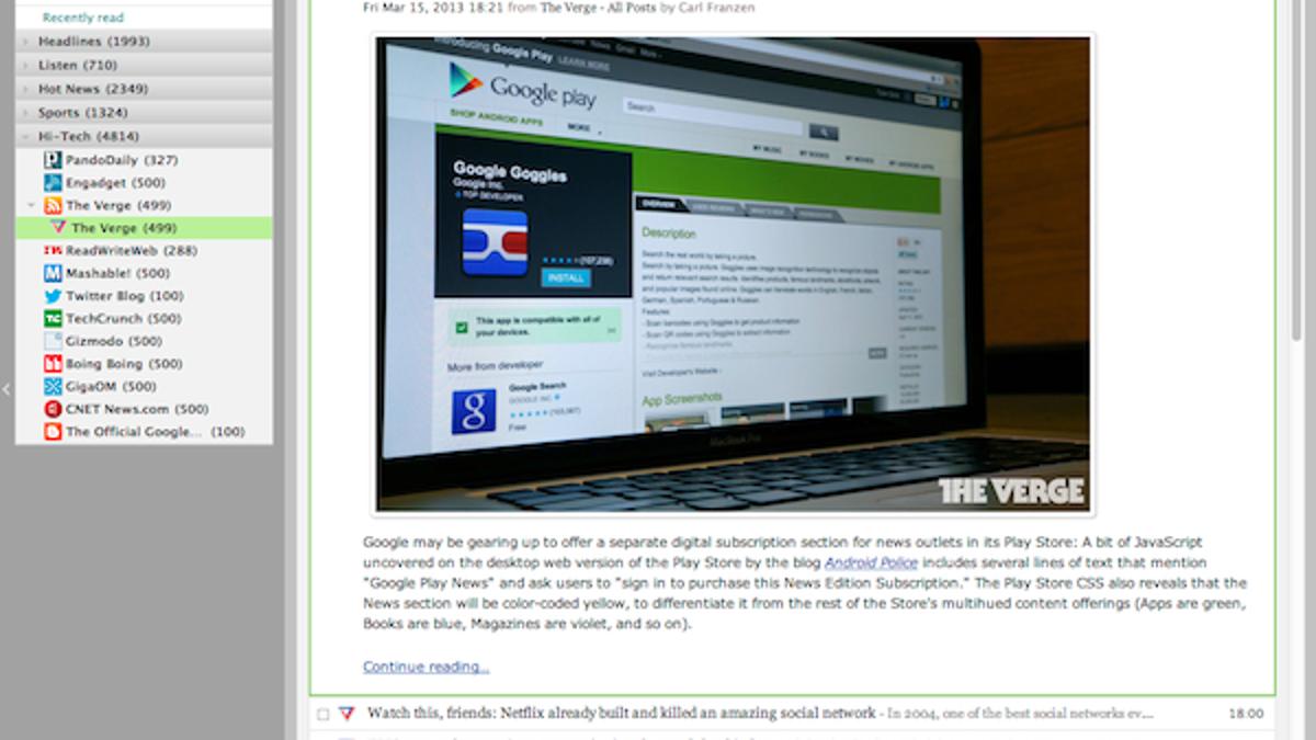 Five Best Google Reader Alternatives