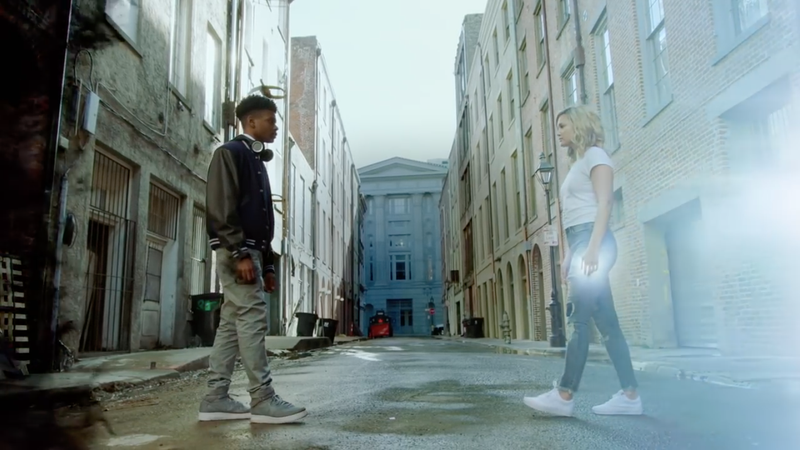 Aubrey Joseph as Tyrone Johnson and Olivia Holt as Tandy Bowen in Marvel's Cloak & Dagger.