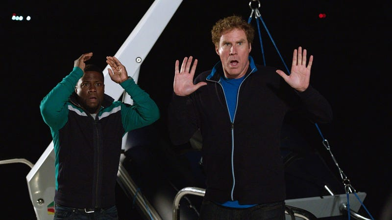 Illustration for article titled Will Ferrell and Kevin Hart rush and bluff their way through Get Hard