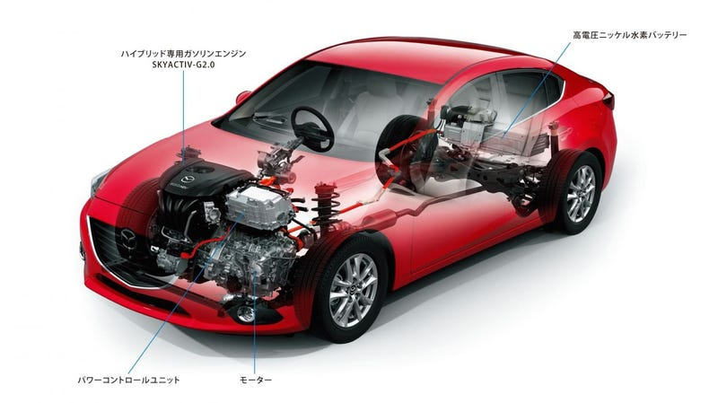 Illustration for article titled Mazda3 Hybrid: More Toyota than Mazda?