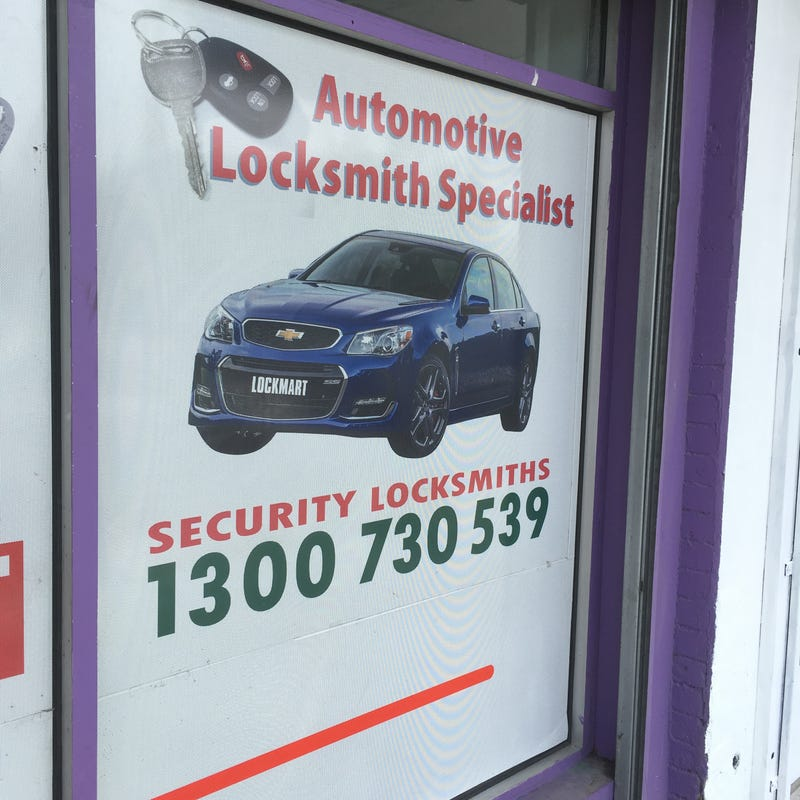 Chevy SS pic used on Australian locksmith business