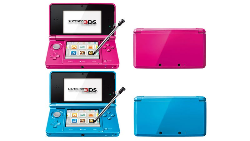 Nintendo 3ds Xl Colors : Nintendo shows off a new ds colour that is very pink