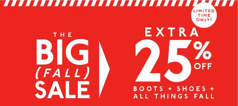 Extra 25% off on select styles