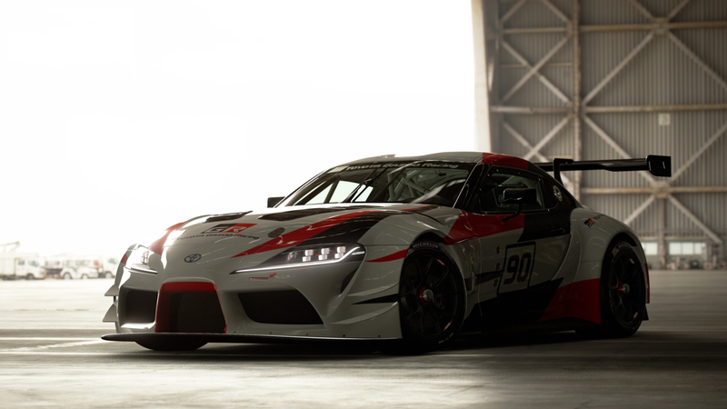 Illustration for article titled The Toyota Supra Racing Concept Is On Gran Turismo Sport With 591 HP