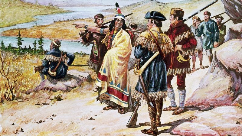Illustration for article titled Newly Discovered Journal Entries Reveal Sacagawea's Repeated Attempts To Ditch Lewis And Clark