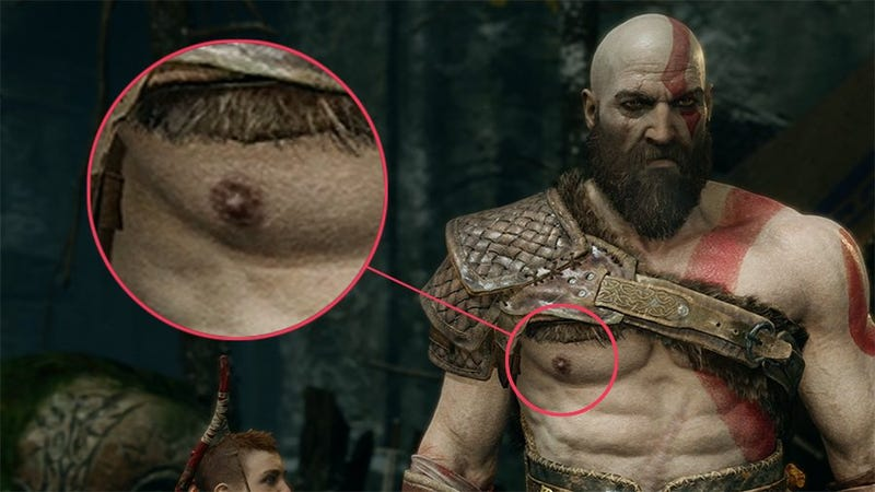 Illustration for article titled An Ode To Kratos' Nipples