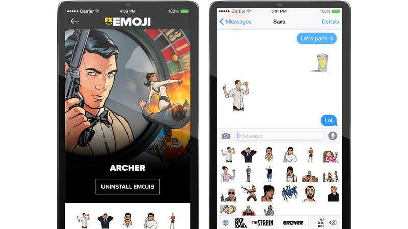 Illustration for article titled A new app provides emoji based on FX and FXX shows