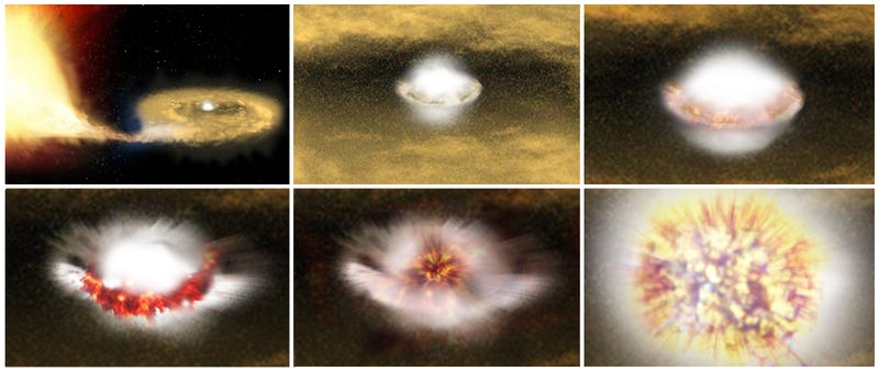 Illustration for article titled Now We Know What Makes White Dwarf Stars Go Supernova