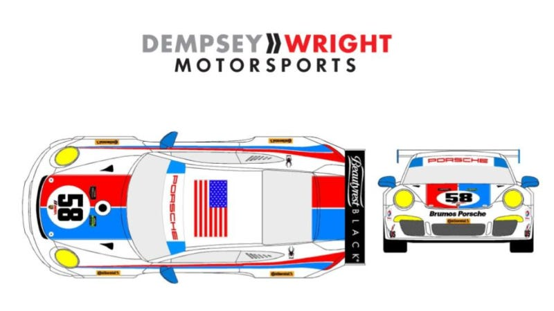 Illustration for article titled Brumos Racing Is Back, Sort Of, Thanks To Dempsey/Wright Motorsports