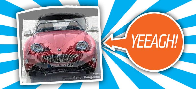 Illustration for article titled This Is What A Celebrity Face-Morphing Site Does To Cars