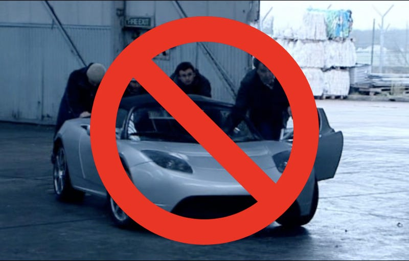 """Illustration for article titled Tesla sues Top Gear over """"rigged"""" electric car test"""