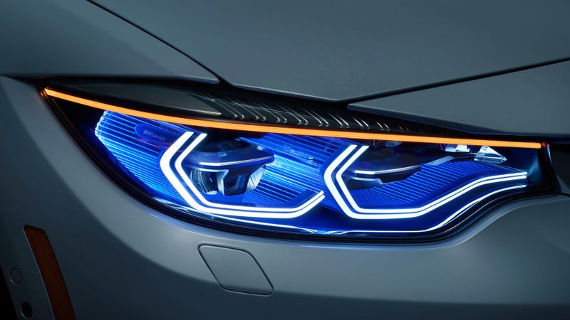 BMW laser headlights, which America does not get.
