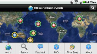 Illustration for article titled Disaster Alert for Android Gives You Real-Time Updates on the World's Active Hazards