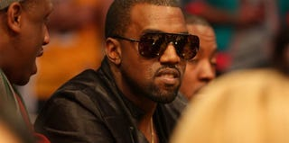 Kanye West at a Heat vs. Lakers basketball game in 2010 (Victor Decolongon/Getty Images)