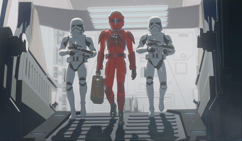 Major Vonreg was back on this week's Star Wars Resistance.