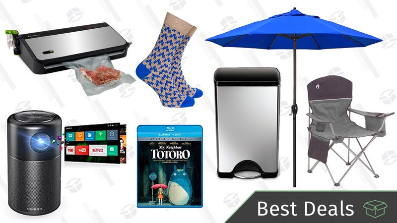Illustration for article titled Monday's Best Deals: Camping Gear Sale, Portable Projector, Simplehuman Trash Can, and More