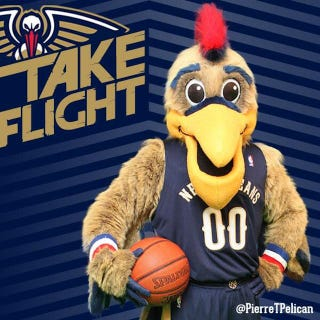 Illustration for article titled Pierre The Pelican Looks Like A Normal Mascot Now