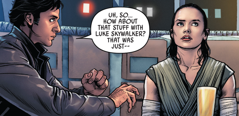 Poe's attempts at idle banter don't go down so well in Poe Dameron #27.