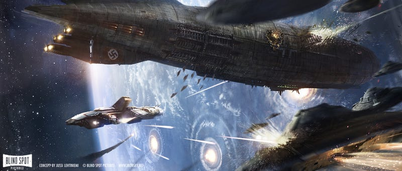 "Illustration for article titled Fantastic Concept Art from the ""Moon Nazi"" Movie Iron Sky"