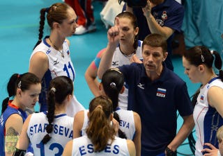 Illustration for article titled Russia's Women's Volleyball Coach, Distraught Over Olympic Failure, Found Hanged